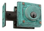 Craftsman Style Deadbolt - verdigris copper finish. Perfect for the home that needs the weathered look. $42.99