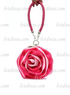 Sweet Satin Wristlets With Flower