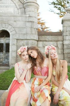 Behold: an anything-but-boring approach to bridesmaid dresses. #etsyweddings
