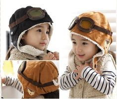 children pilot hats,kids winter earflap caps, lovely flight cap, fleece hat winter hat, boys girls beanie gift, free shipping-in Hats & Caps from Apparel & Accessories on Aliexpress.com