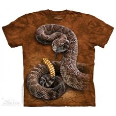Snake T-Shirt with Rattlesnake Kids design by Dimitar Neshev. Get The Mountain Reptile & Amphibian T-Shirt Collection here we have the lowest prices. Big Face, 3d T Shirts, Cotton Tee, Graphic Tees, Classic T Shirts, Prints, Clothes, Mountain, Ebay Clothing