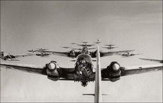 Formation of Heinkel He111 Bombers