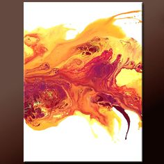 Sunset - NEW Abstract Modern Art Painting  18x24 Original by wostudios on Etsy, $69.00