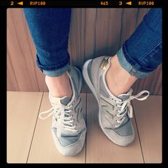 Ready for spring with grey & gold New Balance.