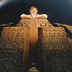 Ridley Scott on the set of 'Blade Runner'