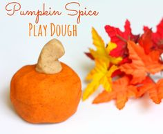 Pumpkin spice play dough is easy to make, smells just like fall and is the perfect way for your kids to explore, play and get creative.