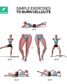 Cellulite often tends to accumulate on your butt and legs, so your cellulite exercise strategy needs to be to hit the lower body hard with high reps of moderately heavy strength moves. These workouts will attack that cellulite and tone those legs. Gym Workout Videos, Gym Workout For Beginners, Fitness Workout For Women, Butt Workout, Easy Workouts, Celulite Workout, Hit Exercise, Cellulite Exercises, Leg Cellulite