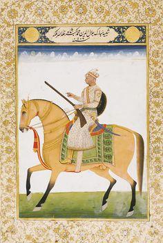 A PORTRAIT OF EMPEROR AKBAR, NORTH INDIA, 19TH CENTURY
