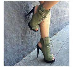 Earth Green Heels