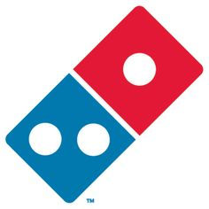 Deloney: Logo and Logotypes- Dominos Pizza logo is fairly unique. The logo looks like a tilting Domino with their signature two tone colors blue and red. The design is spot on for the product and can identified as a open pizza box. Pizza Hut, Ann Arbor, Dominos Pizza Coupons, Dominos Coupon Codes, Logo Pizza, Pizza Menu, Pizza Party, Michigan, Pizza Company