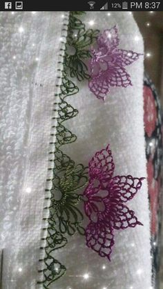 Needle Lace, Bargello, Diy And Crafts, Sewing, Crochet, Crochet Decoration, Towels, Needlepoint, Little Birds