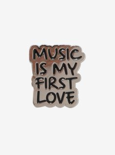 Together forever // Music Is My First Love Enamel Pin