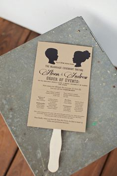program fan | Happy Everything Co #wedding