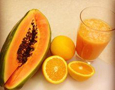 Mmm...jugo de papaya con naranja