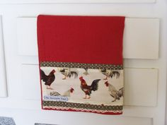 https://flic.kr/p/7nduvA | Country chickens and roosters tea towel | Tucked into a drawer on this old kitchen dresser is this country chickens tea towel. Unique decorative towels are made by Cath. See my profile page for Shop link.
