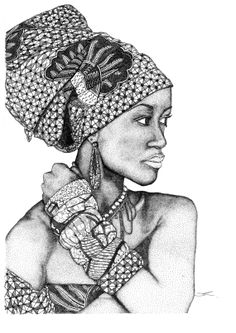African Goddess Dotted Freehand Illustration made of just that... ONLY DOTS.... on Etsy, $69.95 AUD