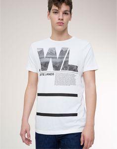 Pull&Bear - man - t-shirts - short sleeve print t-shirt - white - 05238507-I2015