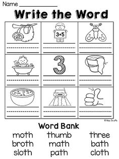 Printables Th Sound Worksheets digraphs sh th worksheets and activities no prep centers