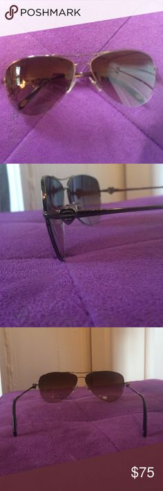 Tiffany & Co. Aviator Sunglasses Gun metal gray aviators. Hardly worn. No scratches. Sit evenly. Tiffany & Co. Accessories Sunglasses