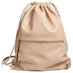 Add a contemporary-chic element to the street style with this pared-down sling backpack in smooth faux leather. Fashion leather articles at 60 % wholesale discount prices Tote Bags, Backpack Bags, Sling Backpack, Duffle Bags, Messenger Bags, Beige Backpacks, Leather Backpacks, Crea Cuir, Faux Leather Backpack