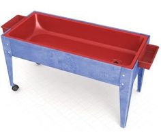 Youth Sand and Water Activity Center w/ Red Liner & 2 Locking Casters
