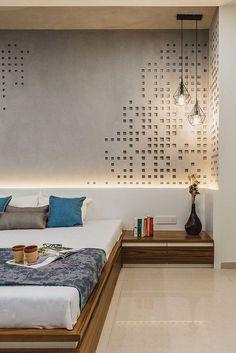Bedroom Wall Design Ideas Inspirational 46 Cool Bedroom Tv Wall Design Ideas with Images Bedroom Tv Wall, Bedroom Wall Designs, Bedroom Bed Design, Bedroom Furniture Design, Modern Bedroom Design, Contemporary Bedroom, Bedroom Ideas, Bedroom Interiors, Bedroom Decor