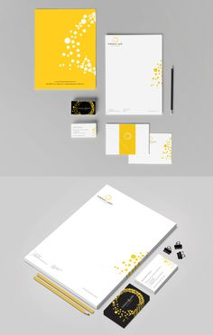 Like the dots, yellow! a little whimsical    Solarium & Patio de l'Outaouais Branding Stationery