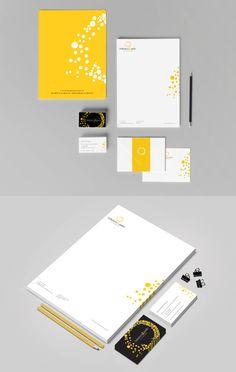 Like the dots, yellow! a little whimsical    Solarium & Patio de l'Outaouais Branding Stationery