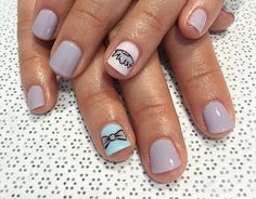 Gender reveal party nails by nailsyall Purple Gel Nails, Party Nails, Nagel Gel, Reveal Parties, Gender Reveal, Instagram Posts, Inspiration, Beauty, Biblical Inspiration