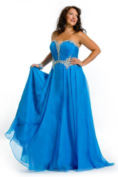 Party Time Plus Size Prom Gowns and Dresses Party Time Plus - Style Number:6273