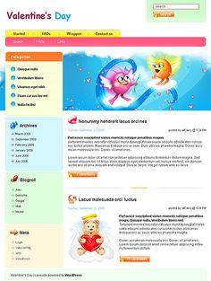Valentine's Day WordPress Themes by Nessy