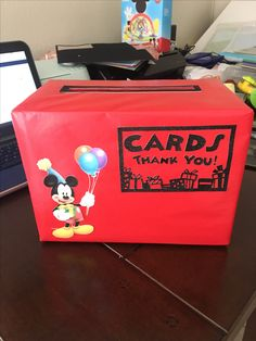 Mickey Mouse clubhouse birthday card box