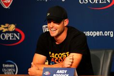 Andy Roddick (USA) announces his retirement from tennis at the 2012 US Open. - Billie Weiss/USTA