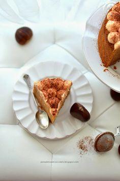 Cake con farina di castagne e zucca