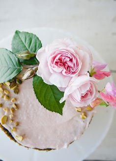 Pistachio Rose Layer Cake \\ Sweet Laurel X Lauren Conrad Blog #SweetLaurelBakery #Paleo #GrainFree #RefinedSugarFree #DairyFree