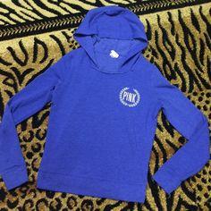 royal blue pullover hoodie   Victoria's Secret royal blue pullover hoodie. Gently used. Good condition!! PINK Victoria's Secret Tops Sweatshirts & Hoodies