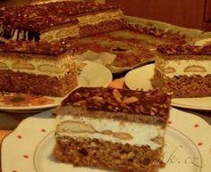 Píďák.cz - Recept - Nebeské slavnostní řezy - těmi opravdu ohromíte Slovak Recipes, Czech Recipes, Ethnic Recipes, No Cook Desserts, Pavlova, Sweet And Salty, Desert Recipes, Thing 1, Tiramisu