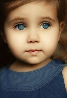 Adorable Child Face and those BLUE Eyes