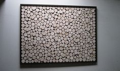 Abstract Art Wood Slice Rustic Wood Wall by RusticModernDesigns