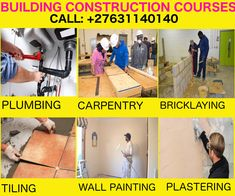 We offer short courses like Plumbing, pipe fitting, Electrical installation, Fitting and turning, and panel beating. After training students attain certification of their respective courses and we also offer job assistance. Welding Training, Construction Machines, Road Construction, Carpentry Courses, Welding Schools, Pipe Fitter, Earth Moving Equipment, Kempton Park