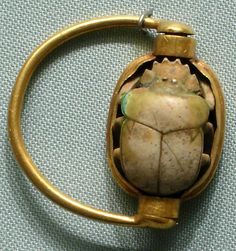 Scarab Finger Ring  reign of Thutmose III ca. 1479–1425 B.C.  Accession Number: 26.7.760