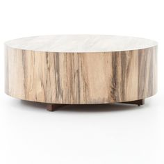 Shop Wesson Hudson Spalted Rustic Wood Block Round Coffee Tables on sale. White Round Coffee Table, Round Wood Coffee Table, Rustic Country Furniture, Modern Wood Coffee Table, Wood Blocks, Rustic Furniture, Rustic Wood, Country House Decor, Reclaimed Wood Coffee Table