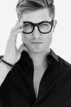 A clean shave, good hair and great glasses! Maximilian Bourne by Thomas Ingersoll