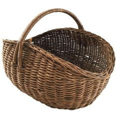 1940's French Market Hand Woven Wicker Basket ($150) ❤ liked on Polyvore featuring home, home decor, small item storage, baskets, handwoven baskets, france basket, wicker baskets, french wicker baskets and hand woven baskets