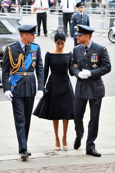Prince William, Prince Harry and Meghan markle.