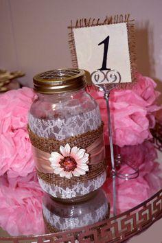 Shabby Chic Rustic Burlap Wedding Flower Vase by PASSIONandLOVE, $15.00