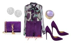 """PURPLE RAIN II...PRINCE RIP"" by myownflow on Polyvore featuring Diane Von Furstenberg, Emilio Pucci, Christian Louboutin, Roberto Coin, Dana Rebecca Designs and Yves Saint Laurent"