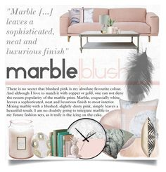 """""""Blush X Marble"""" by karolineacc ❤ liked on Polyvore featuring interior, interiors, interior design, home, home decor, interior decorating, Muuto, Pillow Decor, Voluspa and Allstate Floral"""