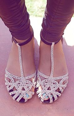 shoes tan flat sandals cream black studs rhinestones nude sandals