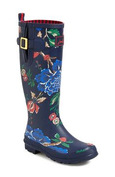 Joules 'Wellyprint' Rain Boot (Women) available at #Nordstrom